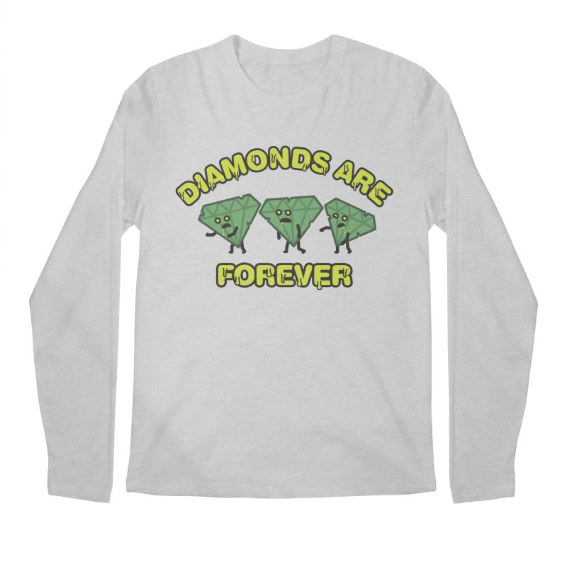 Diamonds Are Forever Men's Regular Longsleeve T-Shirt by Michael Mohlman