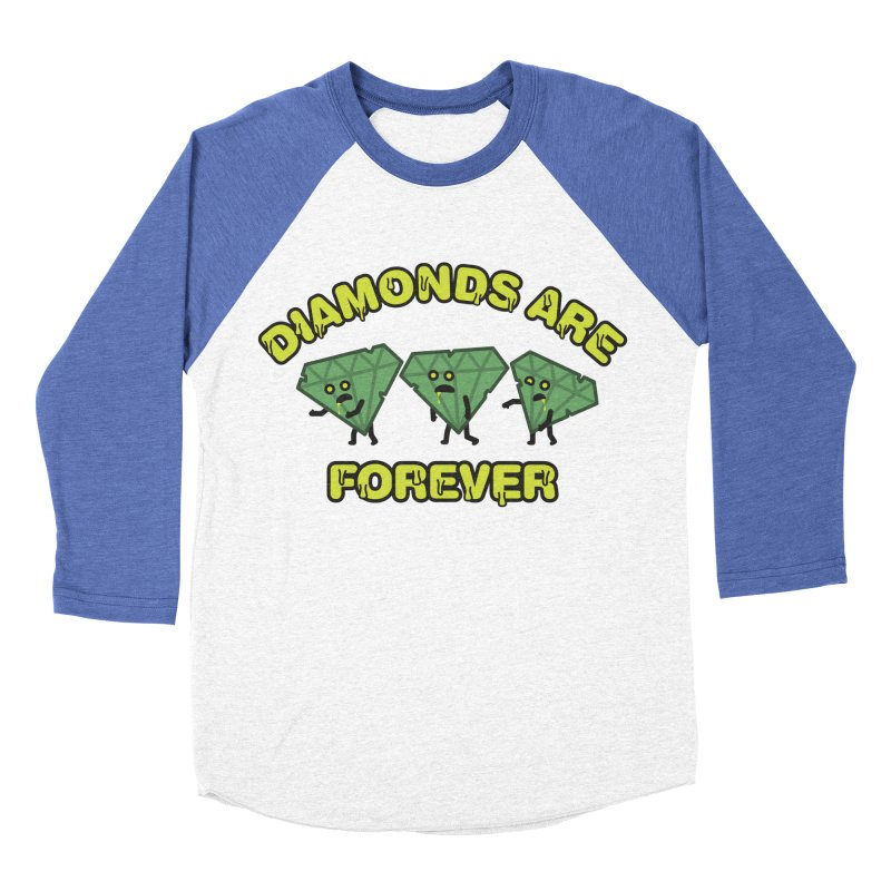Diamonds Are Forever Women's Baseball Triblend Longsleeve T-Shirt by Michael Mohlman
