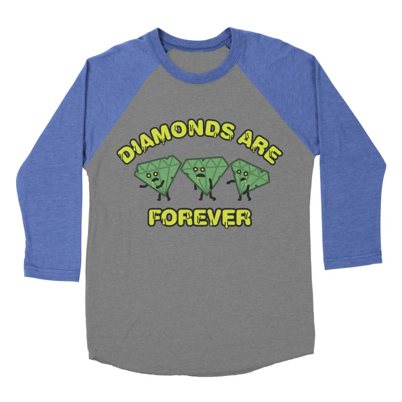 Diamonds Are Forever Women's Baseball Triblend T-Shirt by Michael Mohlman