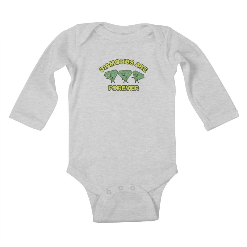 Diamonds Are Forever Kids Baby Longsleeve Bodysuit by Michael Mohlman