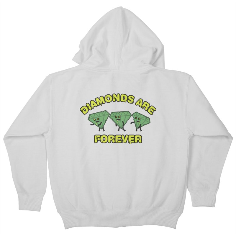 Diamonds Are Forever Kids Zip-Up Hoody by Michael Mohlman