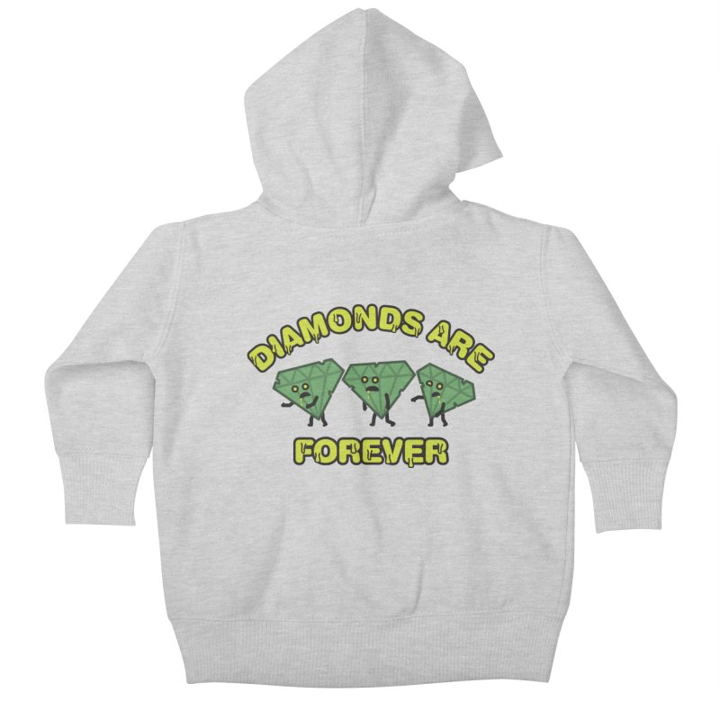 Diamonds Are Forever Kids Baby Zip-Up Hoody by Michael Mohlman