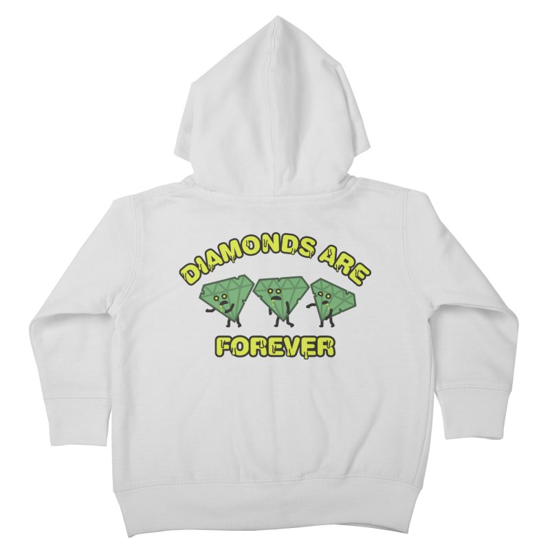 Diamonds Are Forever Kids Toddler Zip-Up Hoody by Michael Mohlman