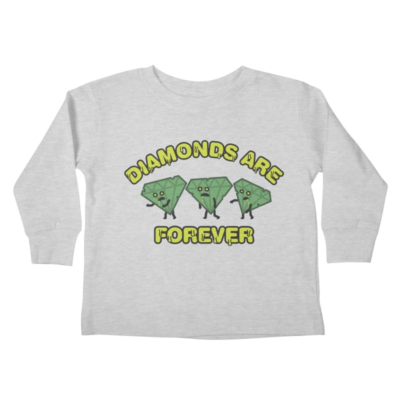 Diamonds Are Forever Kids Toddler Longsleeve T-Shirt by Michael Mohlman