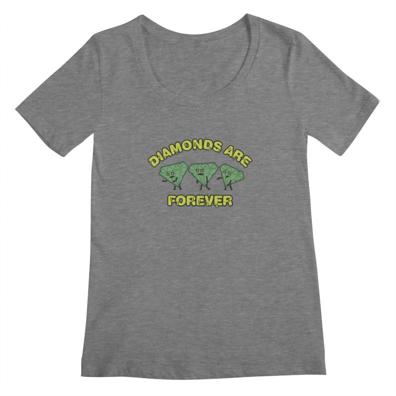 Diamonds Are Forever Women's Scoopneck by Michael Mohlman