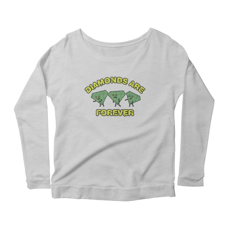 Diamonds Are Forever Women's Longsleeve Scoopneck  by Michael Mohlman