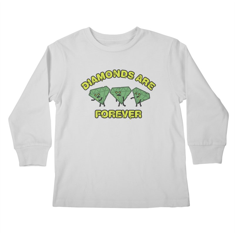 Diamonds Are Forever Kids Longsleeve T-Shirt by Michael Mohlman