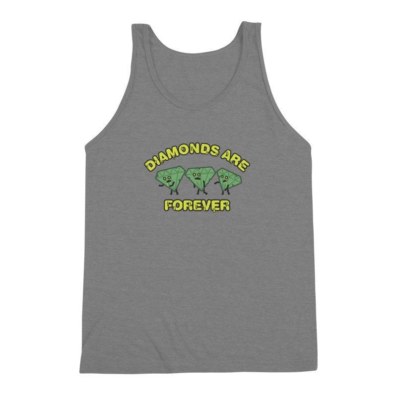 Diamonds Are Forever Men's Triblend Tank by Michael Mohlman