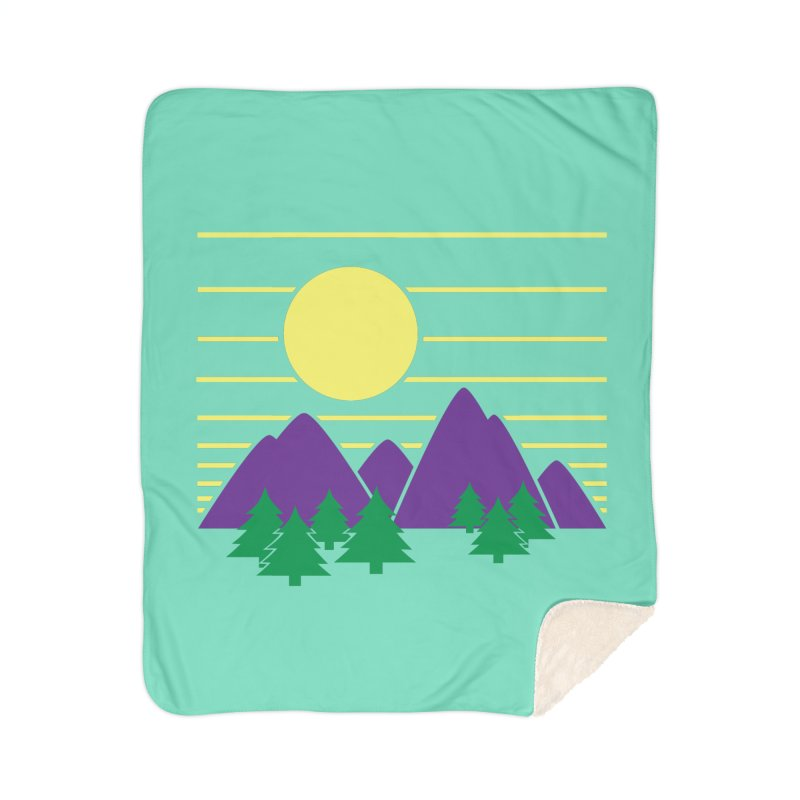 Sunset One Home Sherpa Blanket Blanket by Michael Mohlman