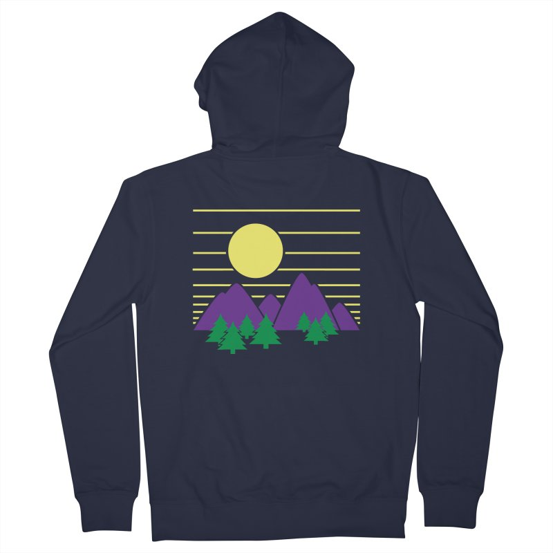 Sunset One Men's French Terry Zip-Up Hoody by Michael Mohlman