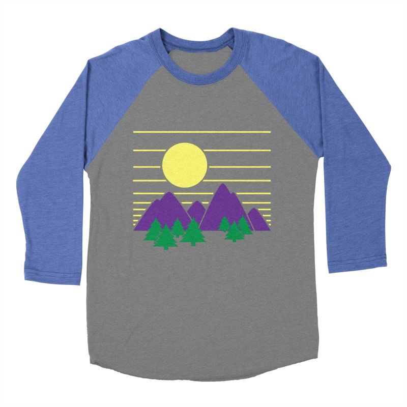 Sunset One Men's Baseball Triblend T-Shirt by Michael Mohlman