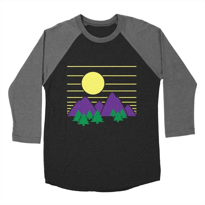 Sunset One Men's Baseball Triblend T-Shirt by Michael Mohlman