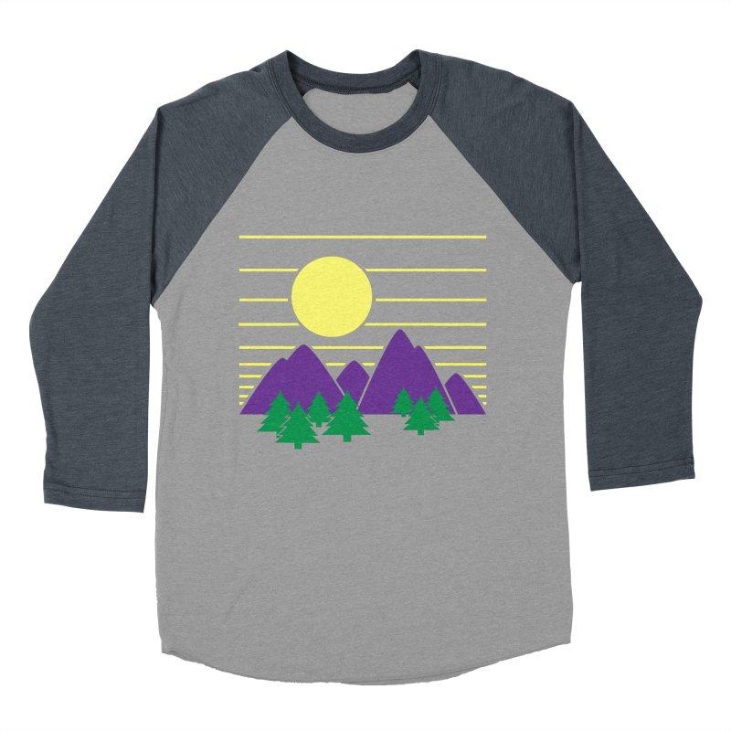 Sunset One Men's Baseball Triblend Longsleeve T-Shirt by Michael Mohlman