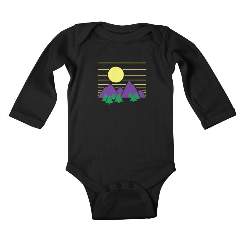 Sunset One Kids Baby Longsleeve Bodysuit by Michael Mohlman
