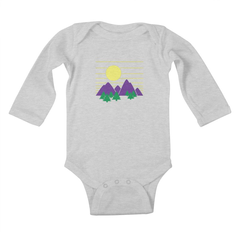 Sunset One Kids Baby Longsleeve Bodysuit by Michael Mohlman