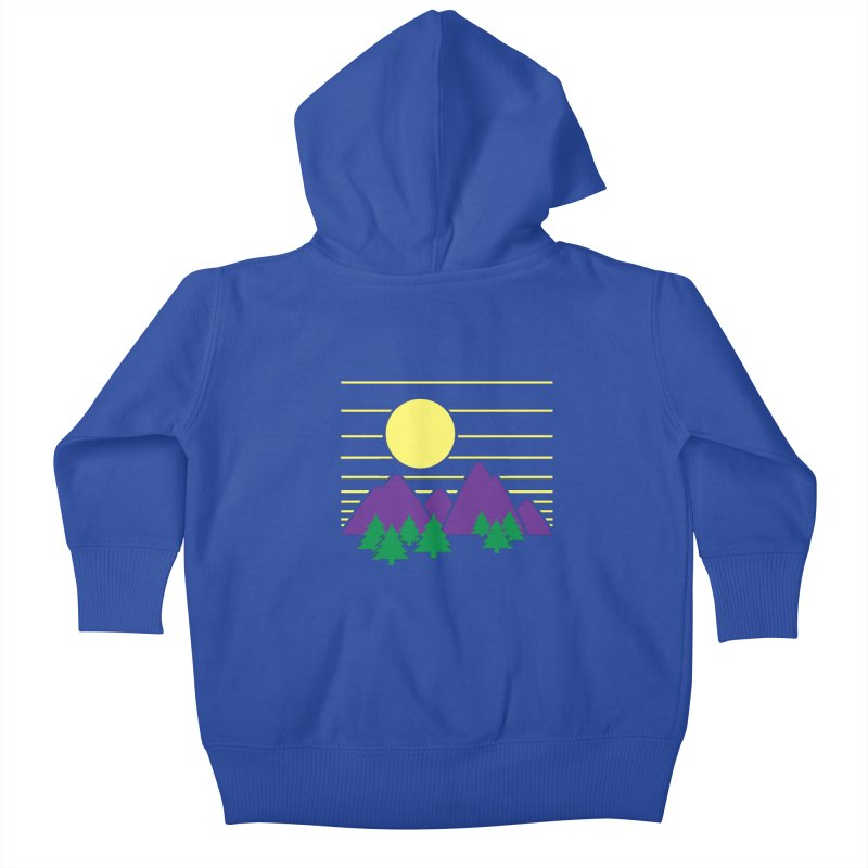 Sunset One Kids Baby Zip-Up Hoody by Michael Mohlman