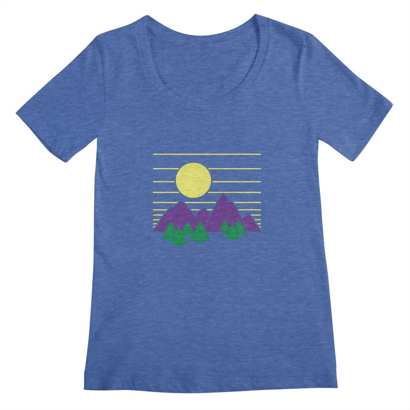 Sunset One Women's Scoopneck by Michael Mohlman