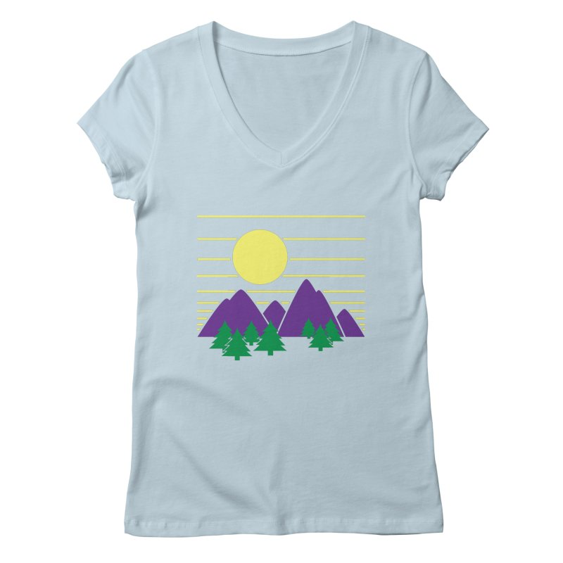 Sunset One Women's V-Neck by Michael Mohlman