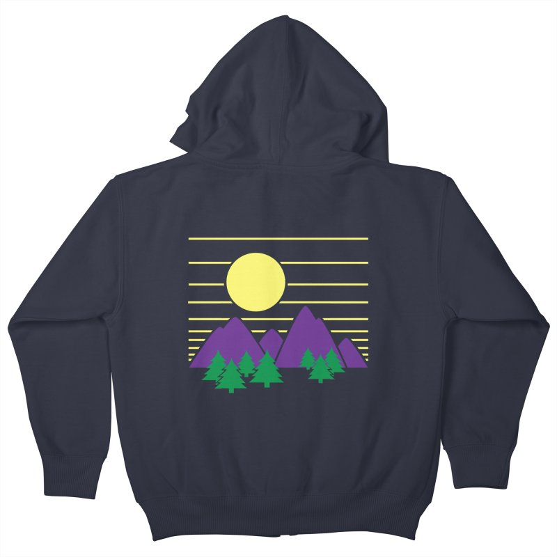 Sunset One Kids Zip-Up Hoody by Michael Mohlman