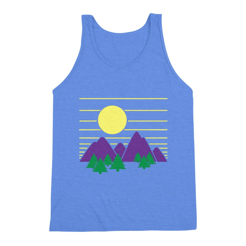 Sunset One Men's Triblend Tank by Michael Mohlman