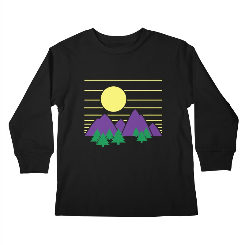 Sunset One Kids Longsleeve T-Shirt by Michael Mohlman