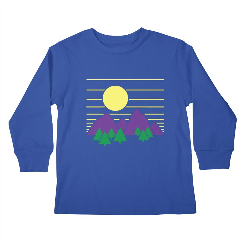Sunset One Kids Longsleeve T-Shirt by Michael Mohlman