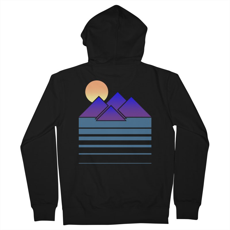 Sunset Two Women's French Terry Zip-Up Hoody by Michael Mohlman