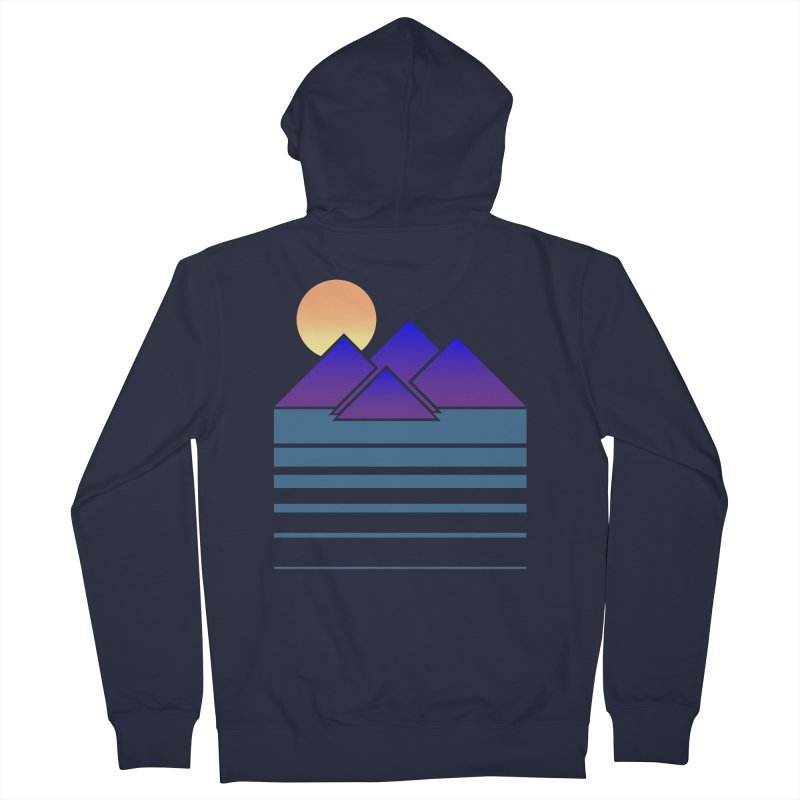Sunset Two Men's French Terry Zip-Up Hoody by Michael Mohlman