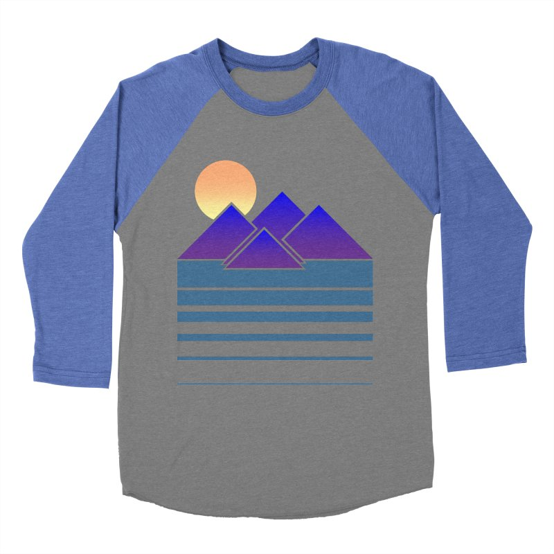 Sunset Two Men's Baseball Triblend T-Shirt by Michael Mohlman