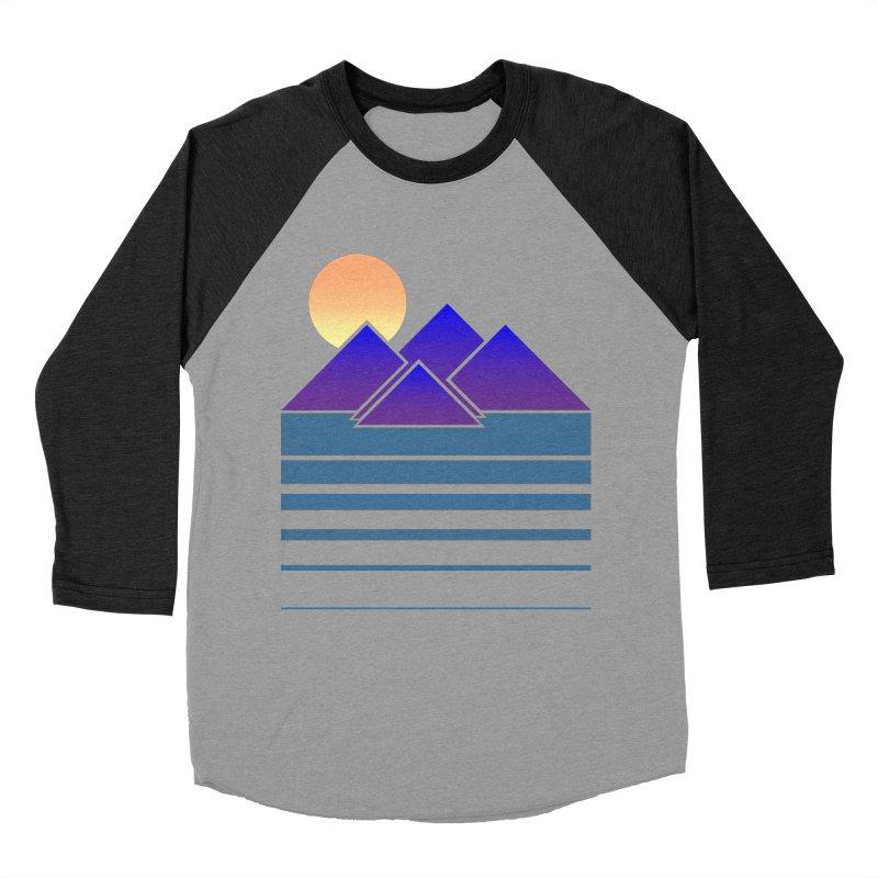 Sunset Two Men's Baseball Triblend Longsleeve T-Shirt by Michael Mohlman