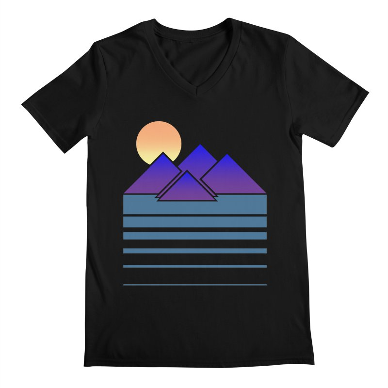 Sunset Two Men's V-Neck by Michael Mohlman