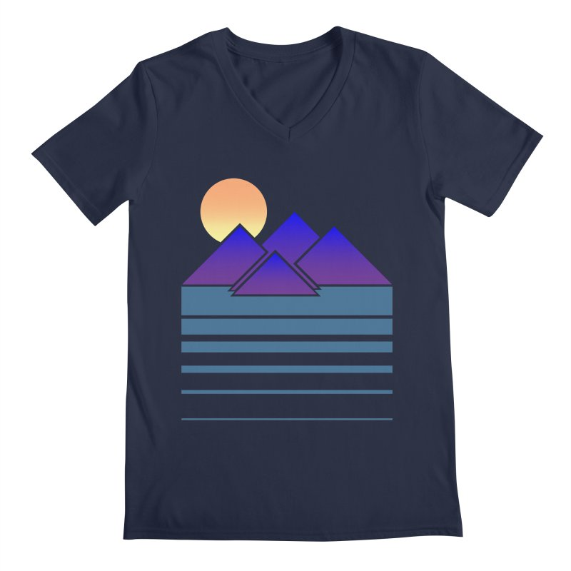 Sunset Two Men's Regular V-Neck by Michael Mohlman