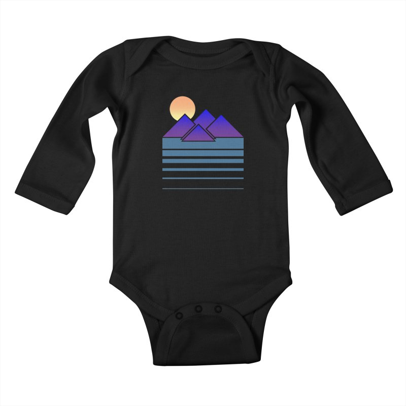 Sunset Two Kids Baby Longsleeve Bodysuit by Michael Mohlman
