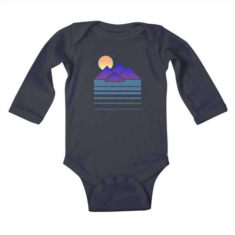 Sunset Two Kids Baby Longsleeve Bodysuit by Michael Mohlman