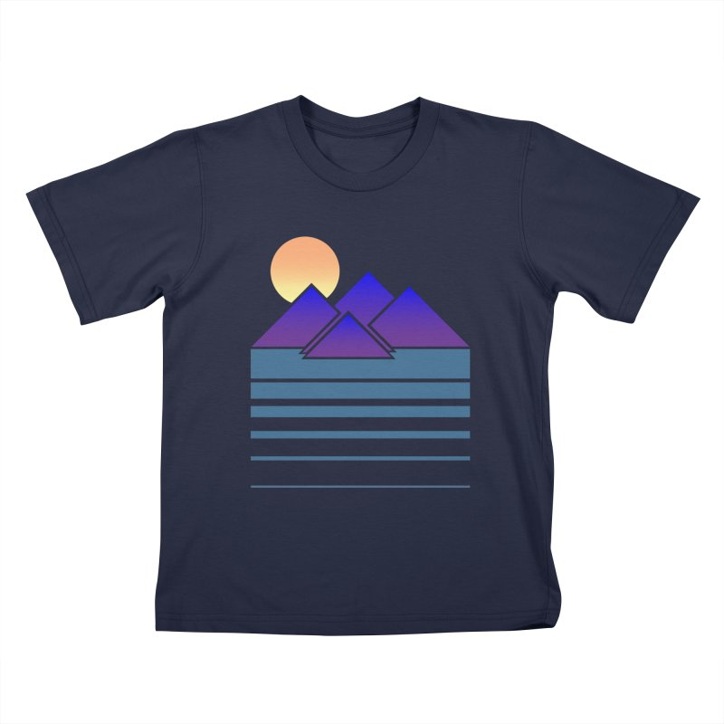 Sunset Two Kids T-Shirt by Michael Mohlman