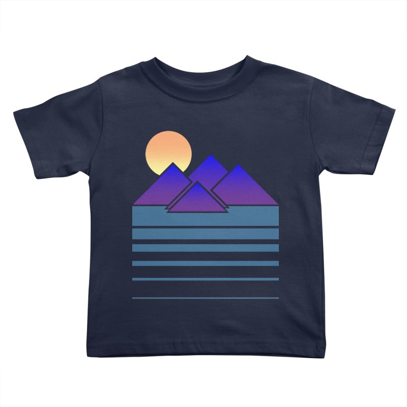 Sunset Two Kids Toddler T-Shirt by Michael Mohlman