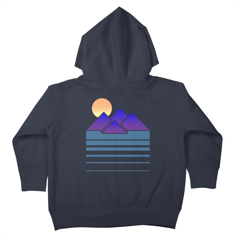 Sunset Two Kids Toddler Zip-Up Hoody by Michael Mohlman