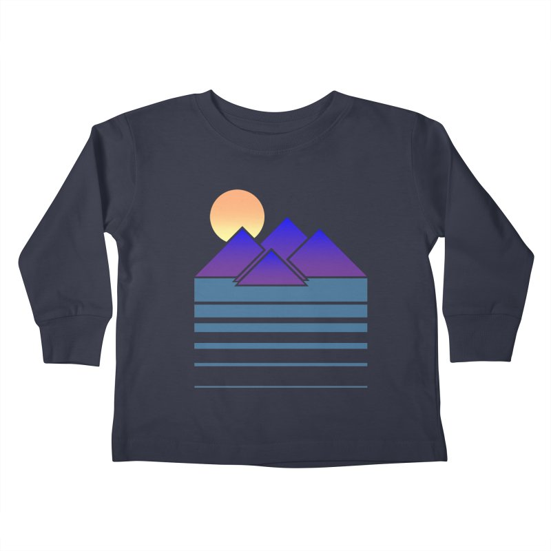 Sunset Two Kids Toddler Longsleeve T-Shirt by Michael Mohlman
