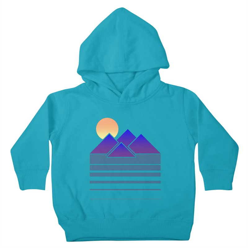 Sunset Two Kids Toddler Pullover Hoody by Michael Mohlman