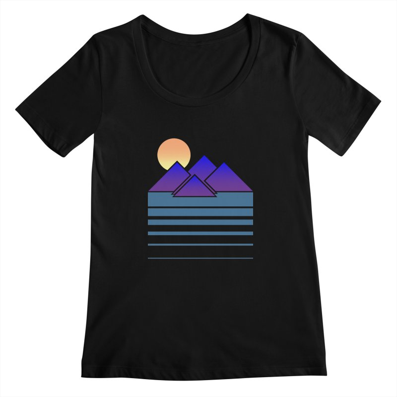 Sunset Two Women's Scoopneck by Michael Mohlman