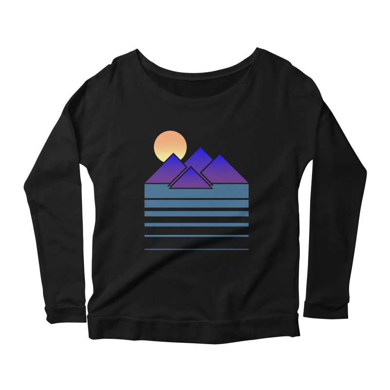 Sunset Two Women's Scoop Neck Longsleeve T-Shirt by Michael Mohlman