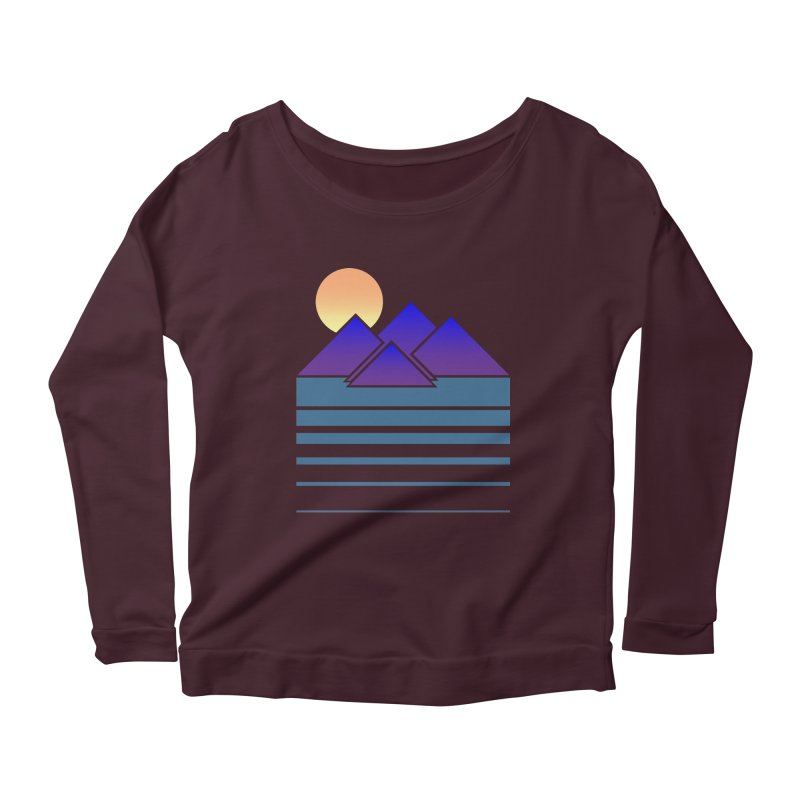 Sunset Two Women's Longsleeve Scoopneck  by Michael Mohlman