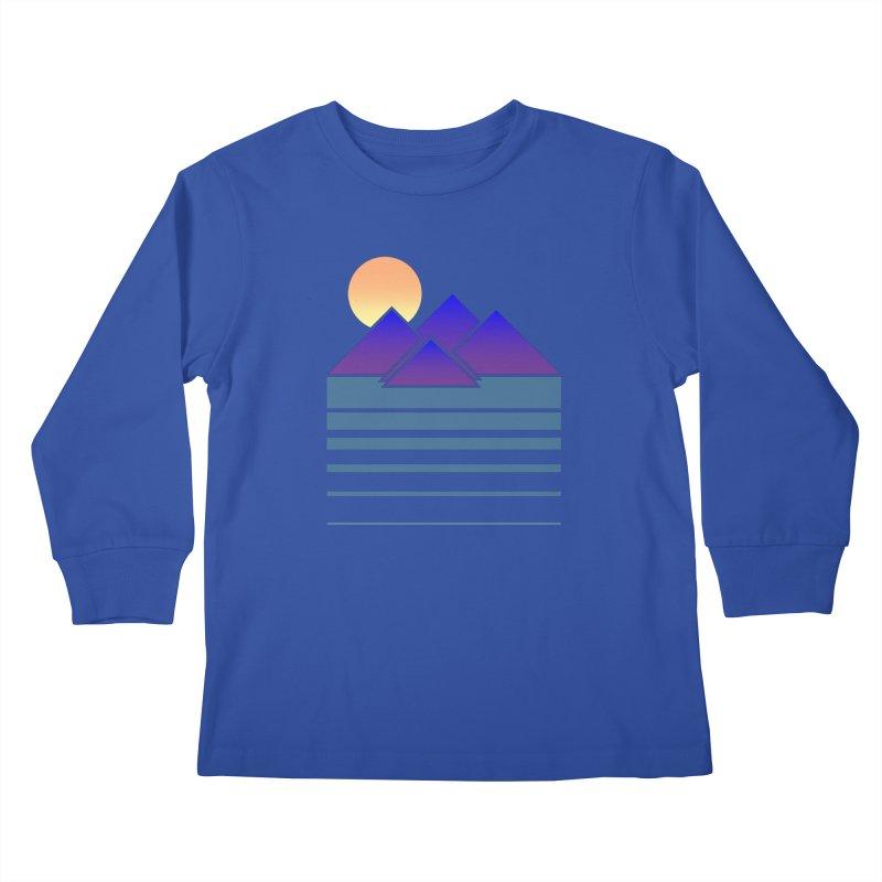 Sunset Two Kids Longsleeve T-Shirt by Michael Mohlman