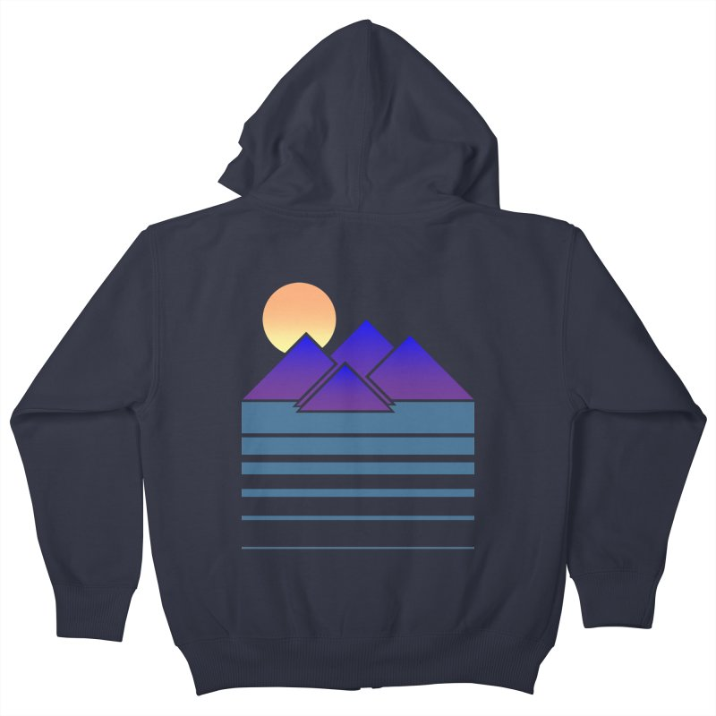 Sunset Two Kids Zip-Up Hoody by Michael Mohlman