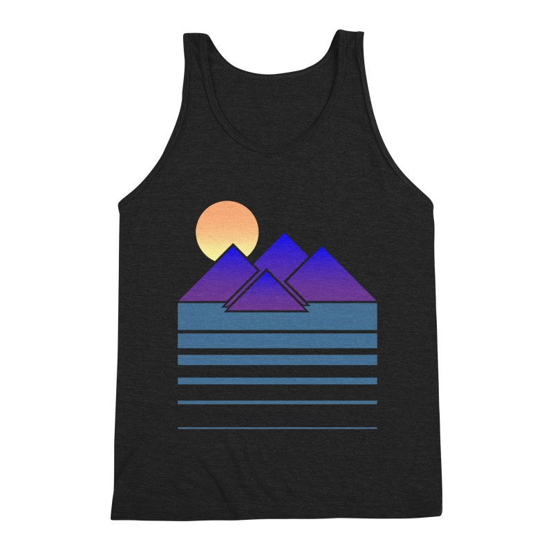 Sunset Two Men's Triblend Tank by Michael Mohlman