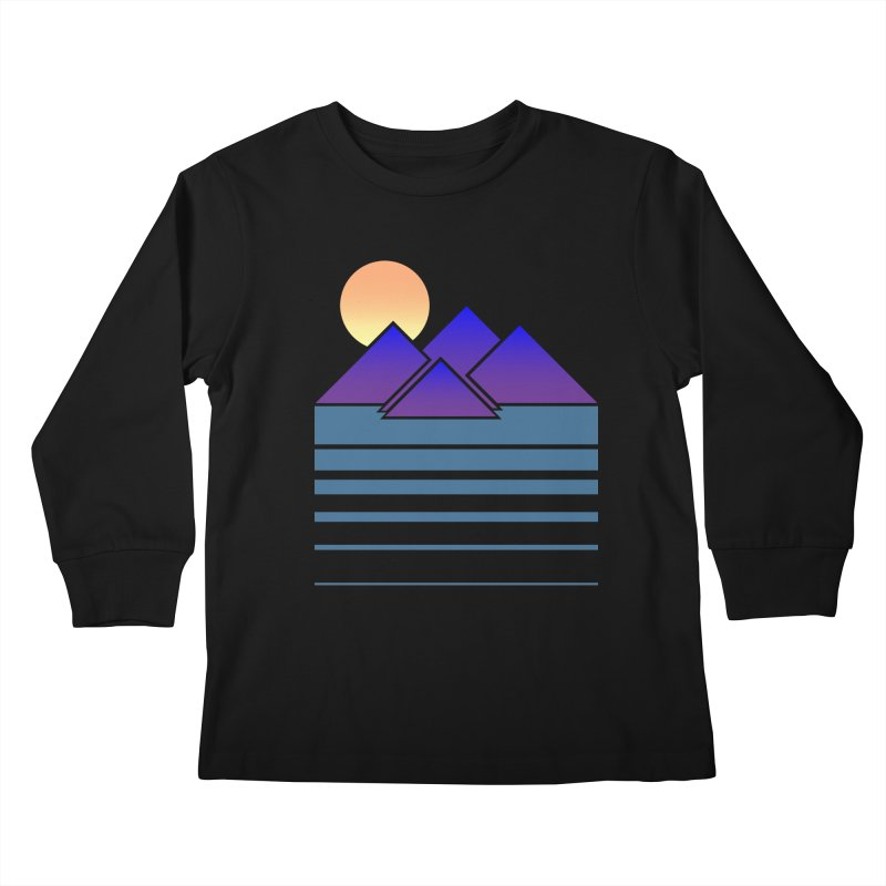 Sunset Two Kids Longsleeve T-Shirt by Michael Mohlman