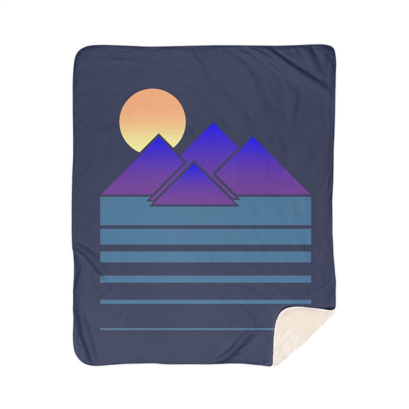 Sunset Two Home Sherpa Blanket Blanket by Michael Mohlman