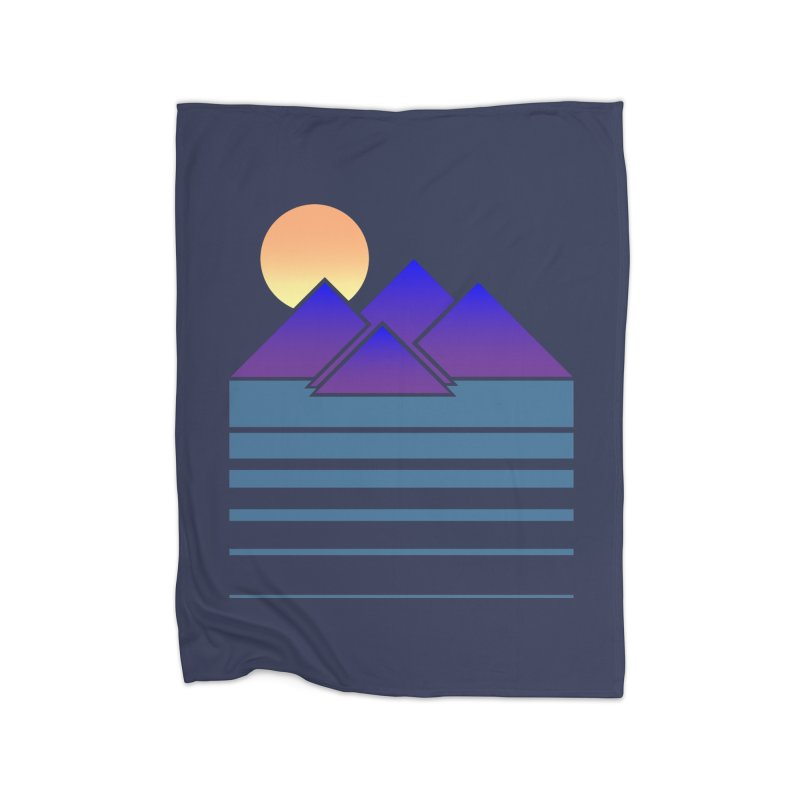 Sunset Two Home Fleece Blanket Blanket by Michael Mohlman