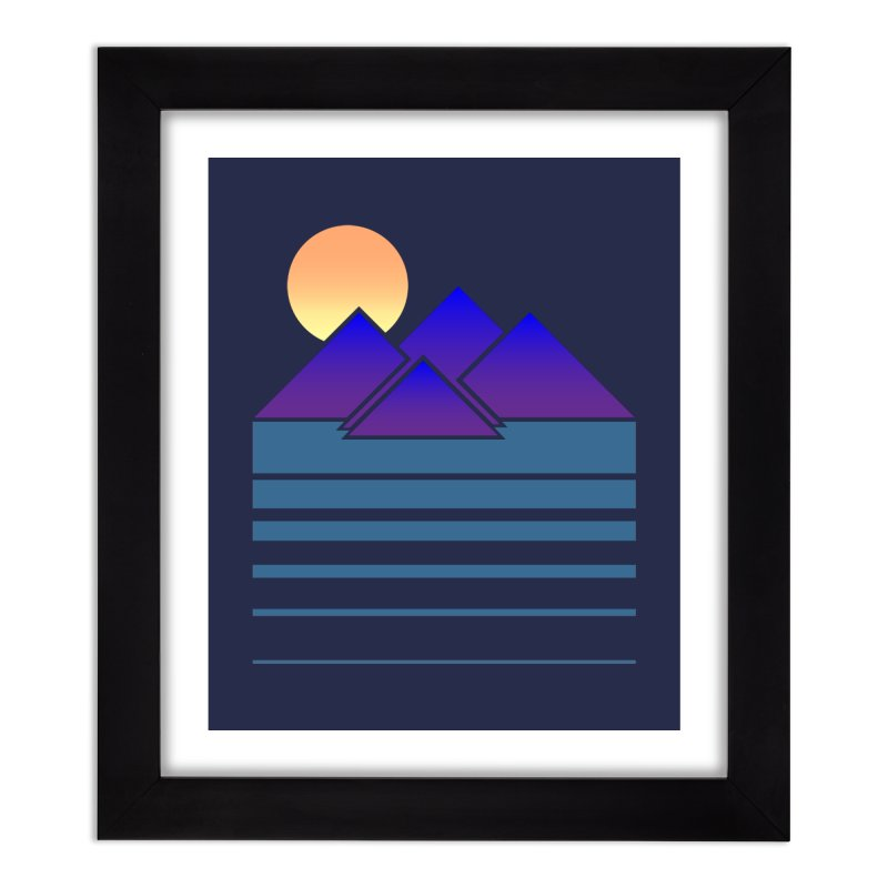 Sunset Two Home Framed Fine Art Print by Michael Mohlman