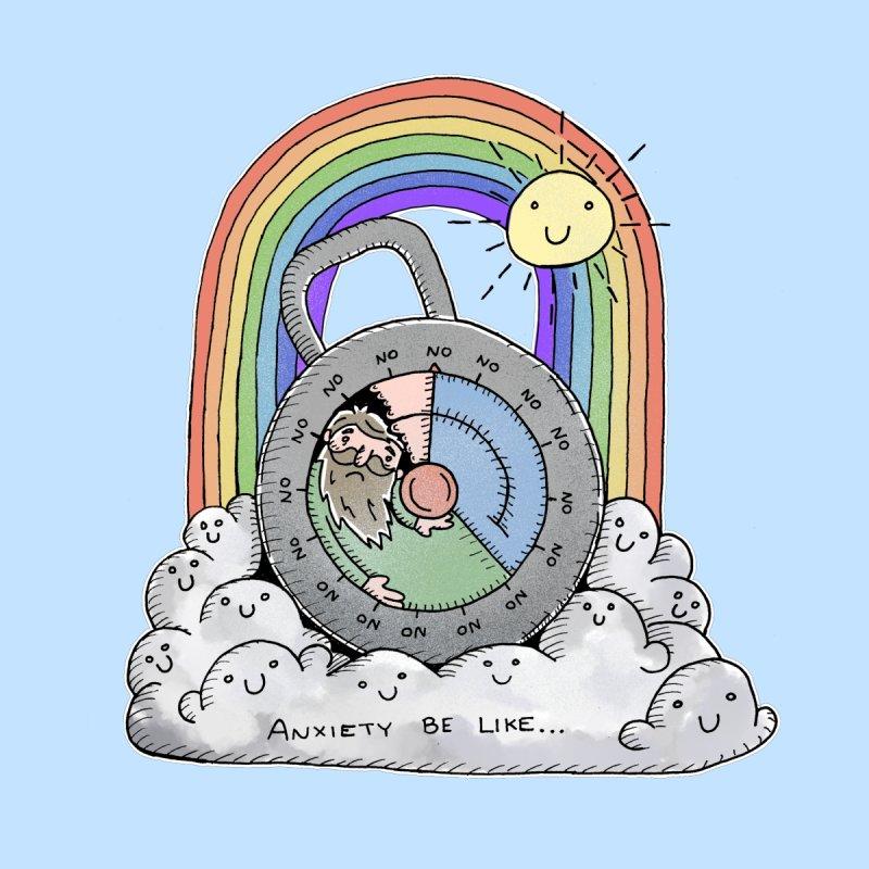 Anxiety be like... Kids Baby Bodysuit by michaelolsonart's Artist Shop